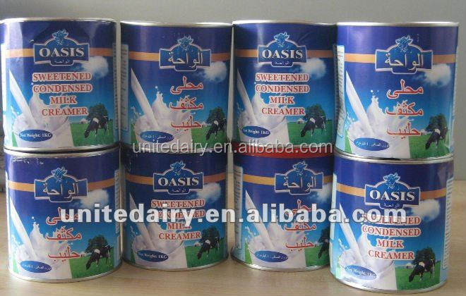 Sweetened Condense Milk Packing in tin of 370g