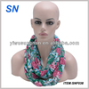 2014 fashion infinity scarf with flower pattern