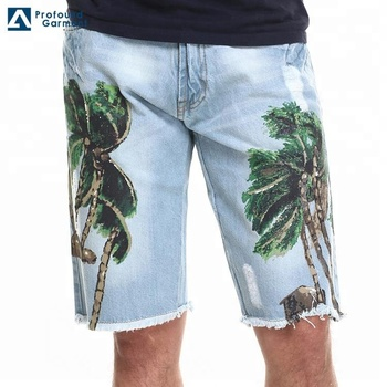 Wholesale Direct Factory Mens Custom Denim Pants Printed Fashion Shorts  Jeans, View custom printed jeans, Profound, OEM & ODM Brand Product Details