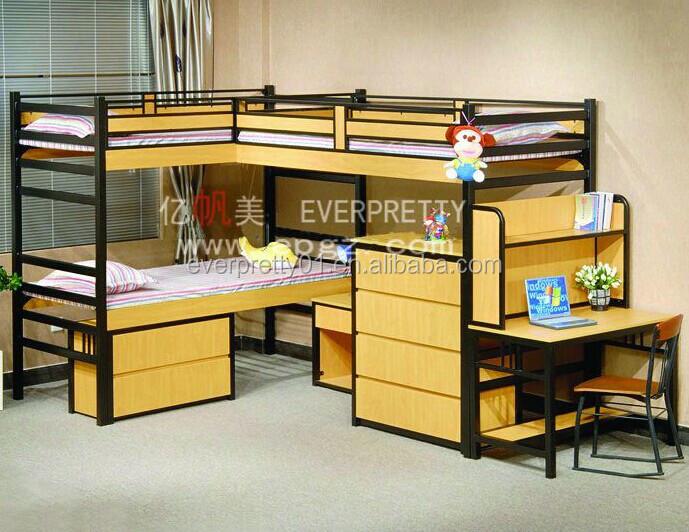 Dormitory Triple Bunk Bed Double Decker Bedroom Furniture