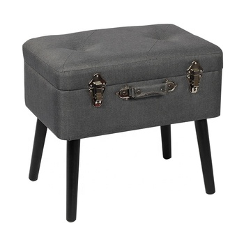 Peachy Fuzhou Fytch Wholesale Gray Fabric Kd Footstool Wood Legs Storage Stool Suitcase With Flipping Lid Child Safety Hinge Buy Stool Ottoman Product On Ibusinesslaw Wood Chair Design Ideas Ibusinesslaworg