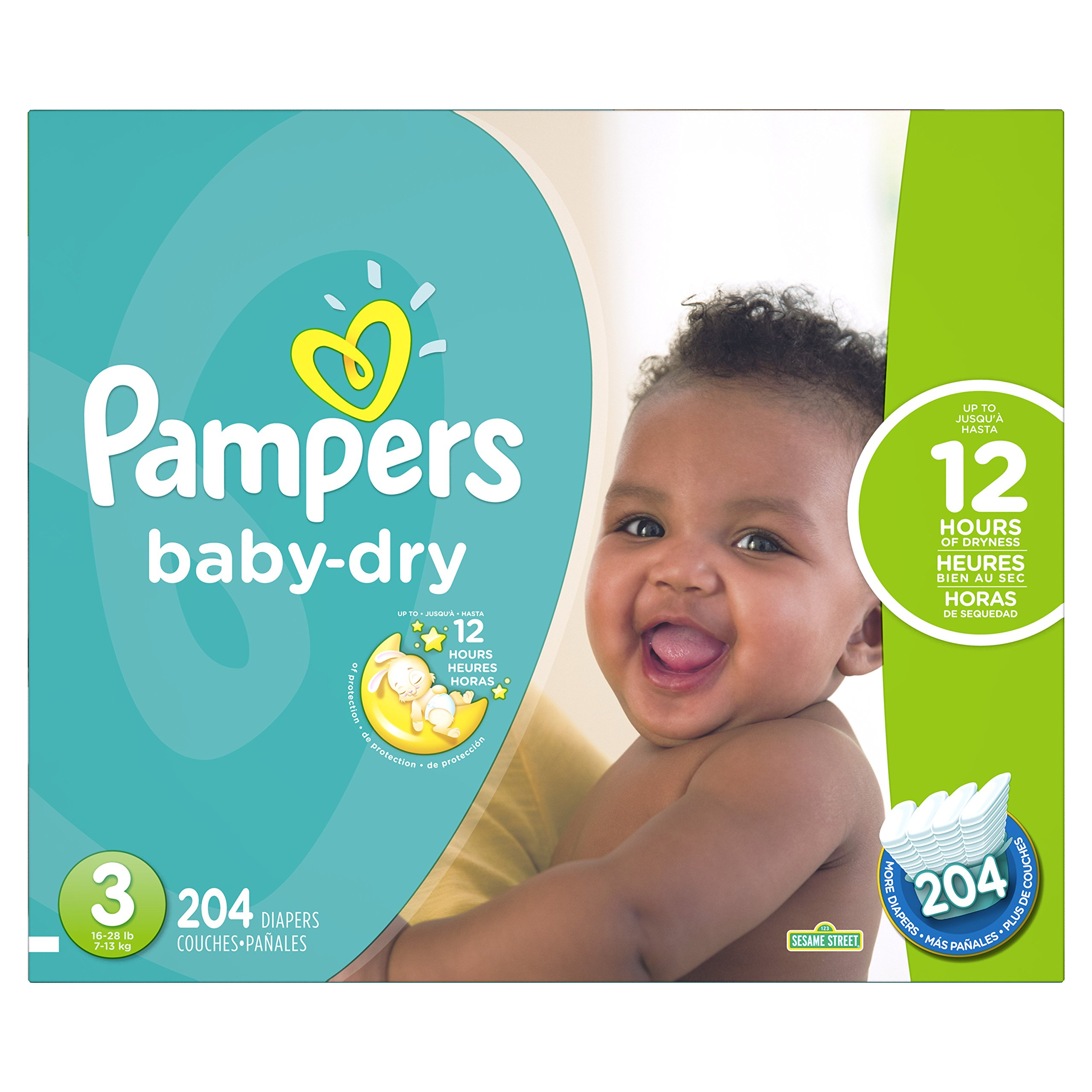 e29c639ab15 Get Quotations · Pampers Baby-Dry Disposable Diapers Size 3