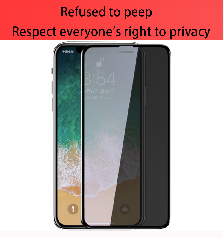 9h 2.5d anti fingerprint anti spy universal privacy screen protector for new iphone 11 x xs max