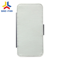 Sublimation Phone Cases Blank White fabric Leather Flip cover for iphone5/5s