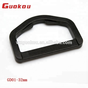 32 MM high grade adjustable plastic D-ring buckle