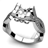 Fashion Gold Diamond Rings, Ring Mounts, Diamond Ring Settings