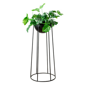 Wholesale large high nordic set of 2 floor standing metal wire plant flower pot holder display for home decor