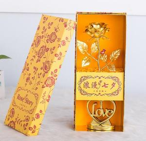 Good quality valentine gifts 24K Gold rose