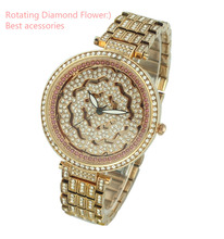 2017 New Arrival Moving Diamond Analog Pictures Of Fashion Girls Watch