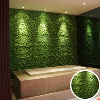 Different Types Wholesale Artificial Indoor Green Wall Panels Moss Grass Home Art Decoration Wall
