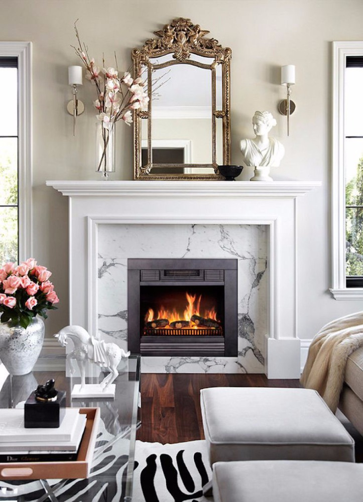 Traditional European style Electric Fireplace w/Mantels