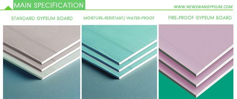 Water Resistant Gyp Board : Knauf gypsum board standard size
