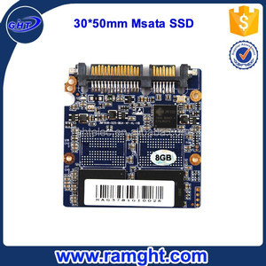 Fully stocked Internal MLC Nand flash msata 8gb ssd for laptop