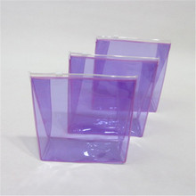 Best Selling 100% Recycled purple clear plastic cosmetic zipper bag
