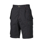 Black cotton cargo mens three quarter shorts Work cargo shorts men half pants
