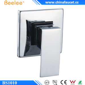 Beelee Brass Shower Faucet Body Valve Concealed Square Bath Shower Mixer for Bathroom Showering System