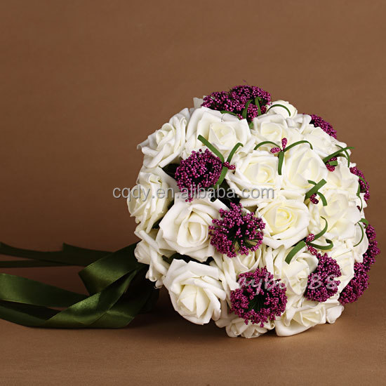 wedding bouquet holders for silk flowers actual touch artificial flowers bridal bouquets 8462