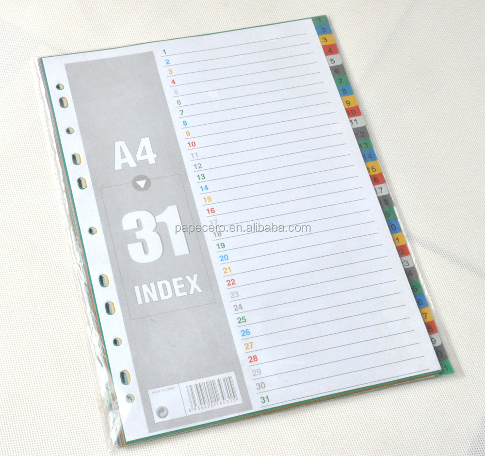Printing On Index Cards: Colorful Pp A4 Folder Tab Dividers/custom Print Index