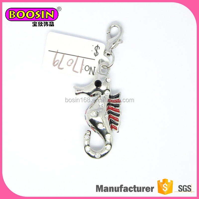 Lovely Jewelry Imitation Alloy wholesale sea horse Charms Underwater Sea Horse Pendant & Charms animal jewelry
