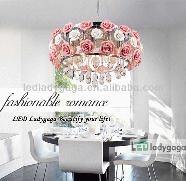 2013 Wedding Style Europe colored glass flower chandelier