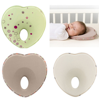Amazon Best Selling Organic Cotton Infant Sleeping Newborn Heart Shaped Baby Pillow Flat Head