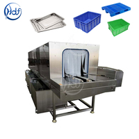 Supermarket transfer plastic basket box cleaning machine baskets washer