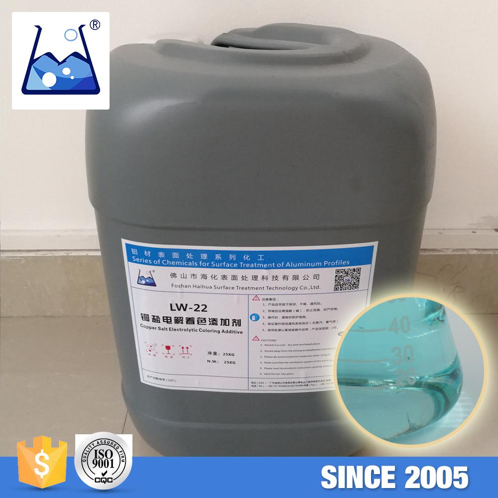 Aluminum Surface Treatment Light Blue Clear Liquid Copper Salt Electrolytic  Coloring Additive - Buy Aluminum Surface Treatment Additive,Aluminum ...