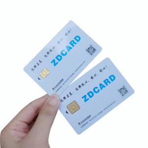 Contact CR80 Plastic Contact Blank Smart Card With ID Chip