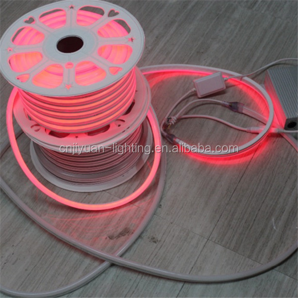 12v Dimmable rgb IP68 LED Neon Flex Rope light RED