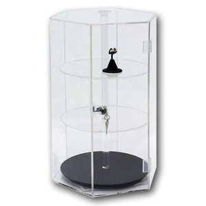 custom acrylic countertop rotating jewelry display stand