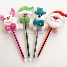 Promotional Christmas Plush Toy Ballpoint Pens for Student Gifts