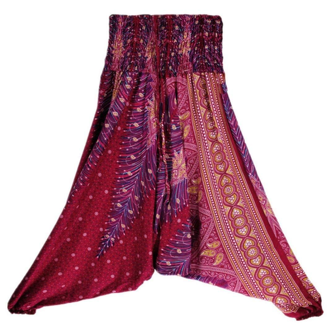 CieKen Women Pant Women 2018 New Gypsy Hippie Boho Baggy Loose fit Elastic Jumpsuit Yoga Harem Pants Sport Trousers