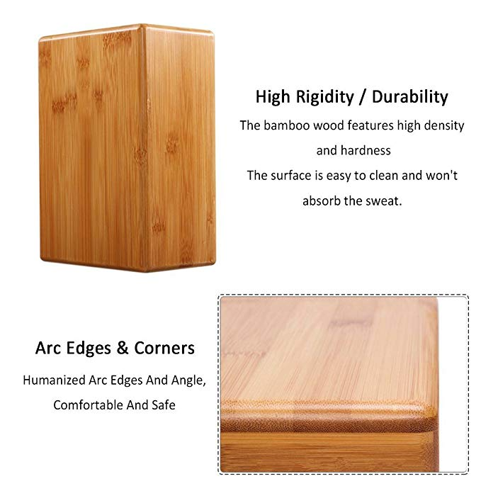 High Quality bamboo yoga block 5