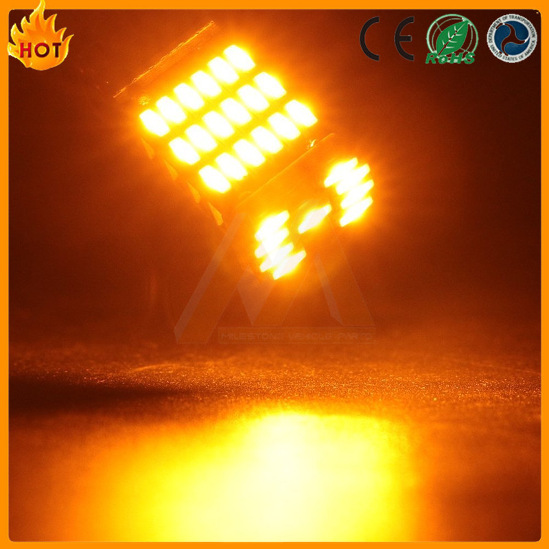 Auto car signal 194 45 smd 4014 canbus car led bulbs t10 amber