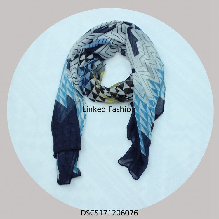 Yiwu wholesale lady pendant scarf with blue stone