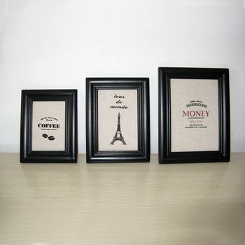 Black And White 4x6 5x7 6x8 8x10 Triple Photo Frames - Buy Triple ...
