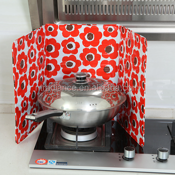 Kitchen Use Fish Printed Aluminum Foil Oil Baffle-Plate