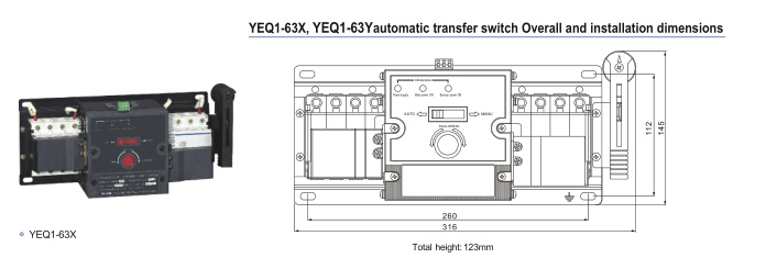 Transfer Switch For Generator Ats - Buy Automatic Transfer Switch