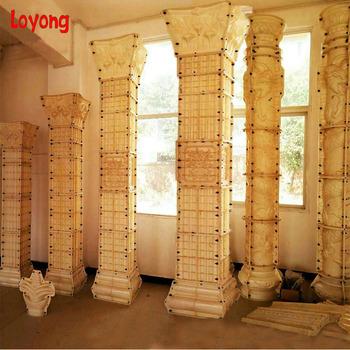 castle garden landscape decoration white marble flowers columns