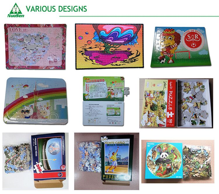 200 pieces Puzzle Sublimation Blank puzzle jigsaw paper puzzle With Box package