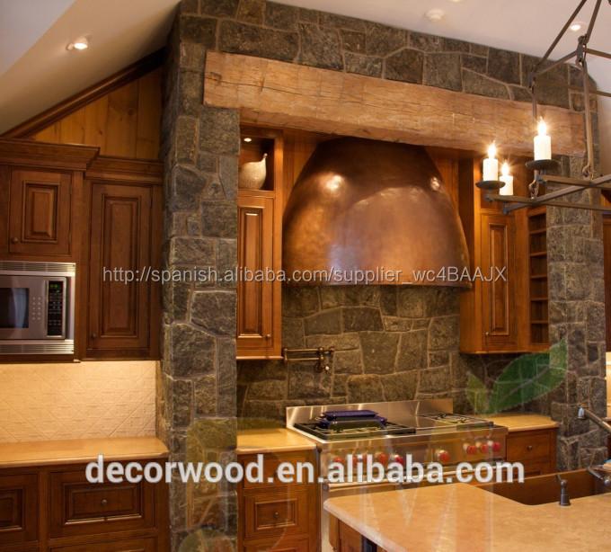 Muebles de cocina fabricados con madera sólida, juego de cocina de ...
