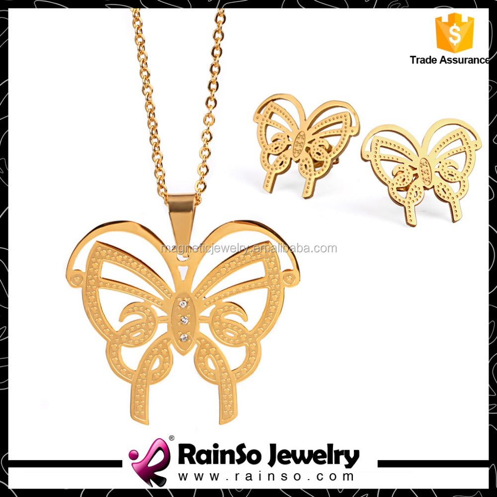 2016 best suppier stylish fake gold jewelry set wholesale price