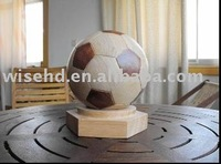 (W-BS-210) wooden football, wooden craft