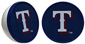 Ihip MLV4000TX Texas Rangers Speaker Set 2PC FB MLB Logo