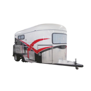 Deluxe Type 2 Horse Straight Load Trailer with front kitchen for sale