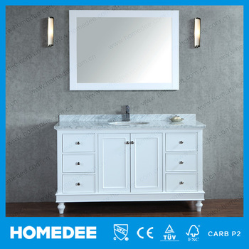 HOMEDEE cheap single bathroom vanity furniture modern