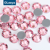 Wholesale Price New Design 2088 Cut Facets SS20 Glass Rhinestones Rose Color Top Quality Hot Fix Strass for Garment Accessories