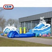 Garden Inflatable Splash Park Inflatable-giant Mega Tropical Paradise Elephant Dolphin Palm Tree Dubai Water Slide With Pool