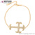 73083 Xuping manufactory charm new trendy personalized 18k gold cross bracelet