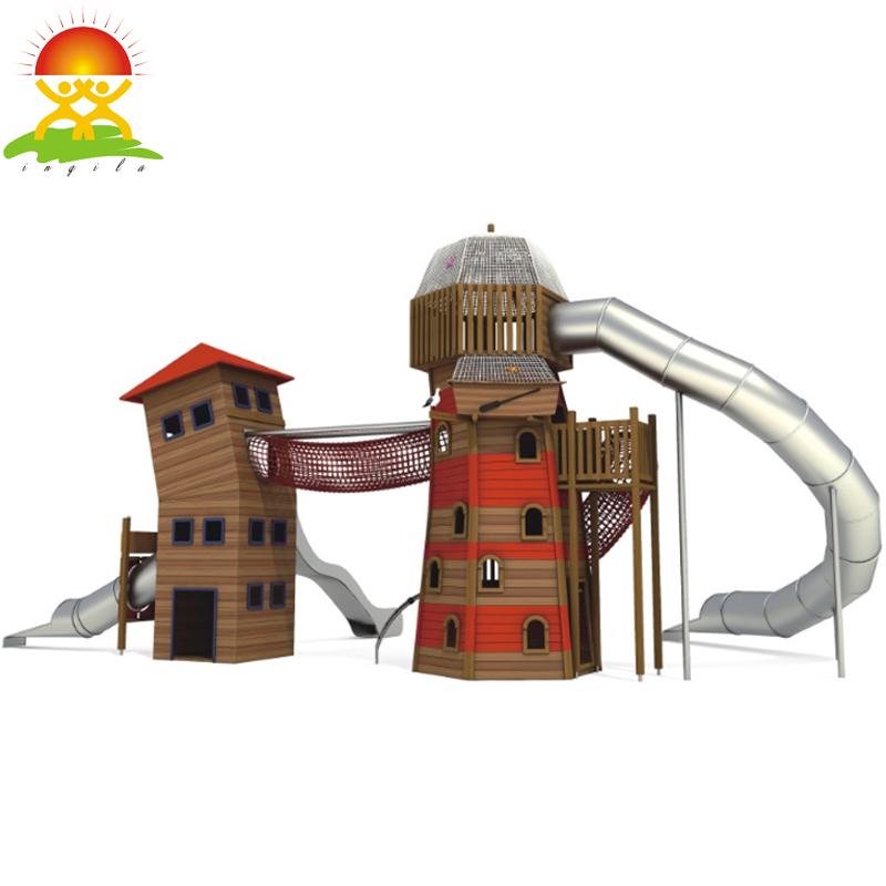 Custom outdoor playground equipment house slide